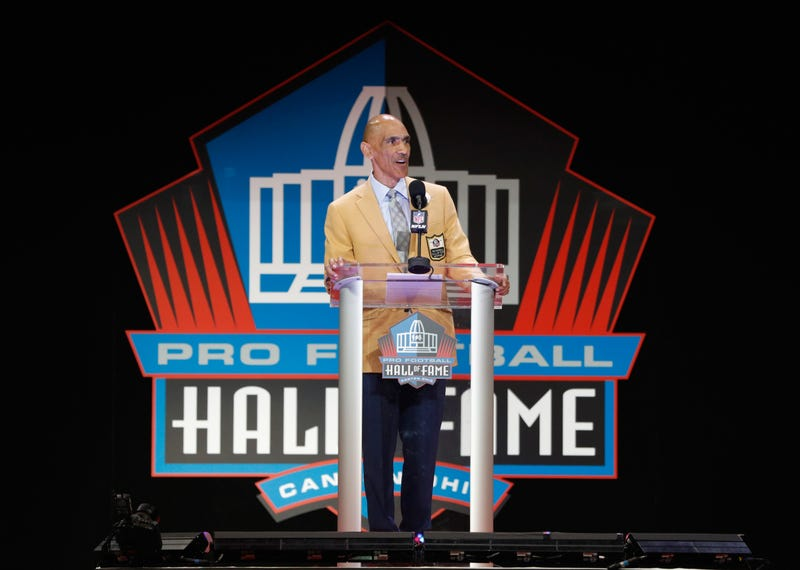 Tony Dungy, former NFL head coach, is seen during his 2016 Class Pro Football Hall of Fame induction speech during the NFL Hall of Fame Enshrinement Ceremony at the Tom Benson Hall of Fame Stadium on Aug. 6, 2016, in Canton, Ohio.  Joe Robbins/Getty Image