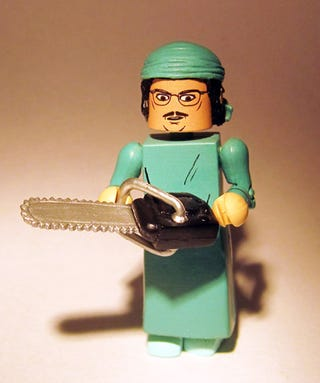 Illustration for article titled On the third day of CAHmas, my card czar got for me Lego Weird Al performing surgery