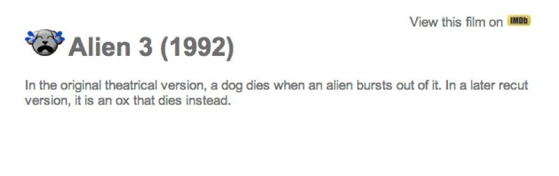 Illustration for article titled Does The Dog Die? A Movie website that asks the IMPORTANT questions