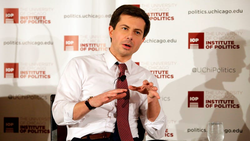 Buttigieg speaks at the University of Chicago on February 13, 2019 in Chicago.