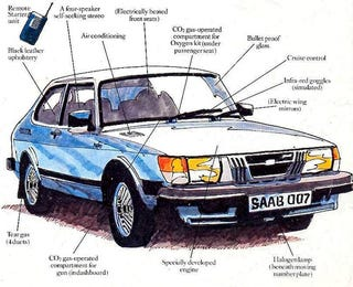 Illustration for article titled This Saab Is The Most Obscure James Bond Car Of All Time