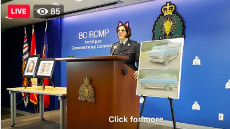 Illustration for article titled La Policía Canadiense se disculpa tras ofrecer una rueda de prensa sobre un asesinato con un filtro de gato