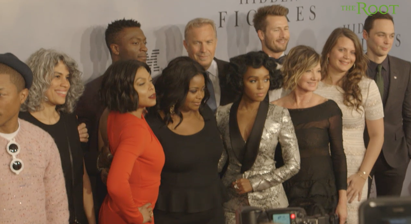 Hidden Figures cast members and other contributors on the red carpetScreenshot