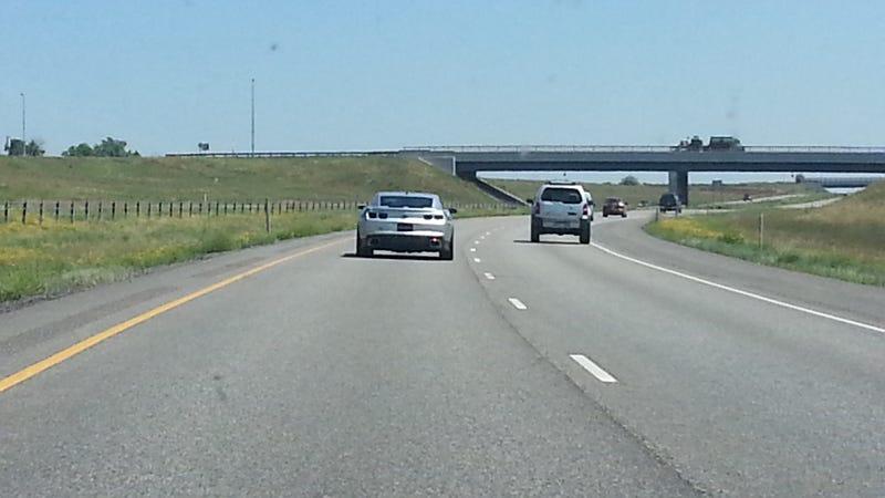 Illustration for article titled Hennessey hpe600 headed east leaving Denver.