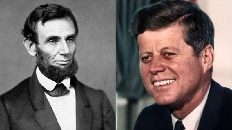 Illustration for article titled Coincidence? The Similarities Between Kennedy and Lincoln Will Blow Your Mind