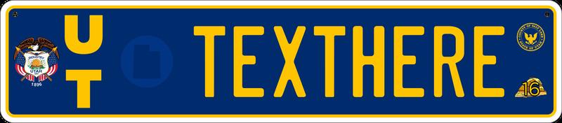 Illustration for article titled Reimagining US License Plates as Euro Plates - Installments 31-35 (UT, AK, MT, AZ, AR)