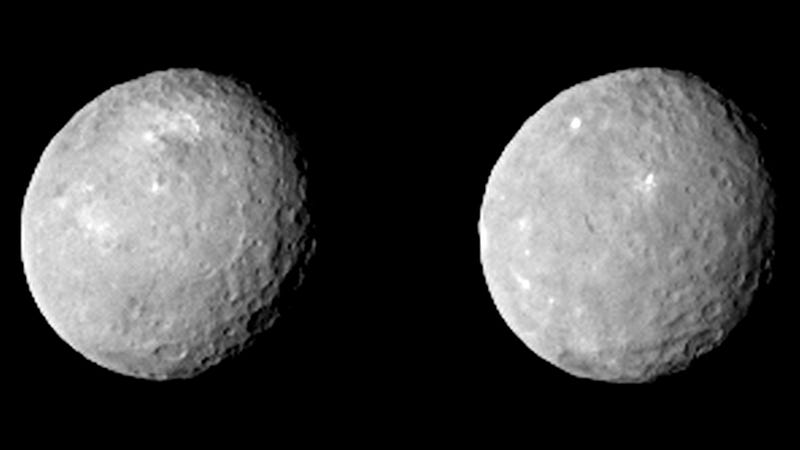 Illustration for article titled Our Closest Look At Ceres Reveals A Surface Riddled With Craters