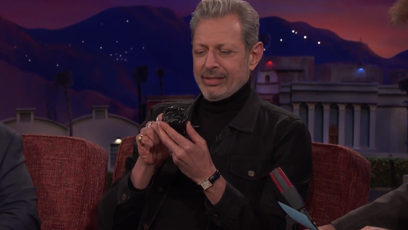Jeff Goldblum, delicately stroking... well, Jeff Goldblum.