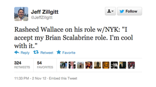 Illustration for article titled Rasheed Wallace Proudly Declares Himself The New Brian Scalabrine