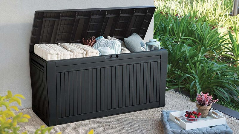 Keter Comfy All Weather Outdoor Storage Box | $52 | Amazon