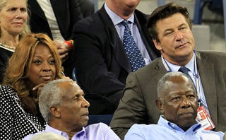 Illustration for article titled Star Jones, Alec Baldwin, And Hank Aaron Create Weird Celebrity Trifecta