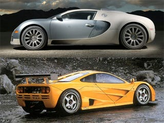 Illustration for article titled Bugatti Veyron 16.4 or McLaren F1?