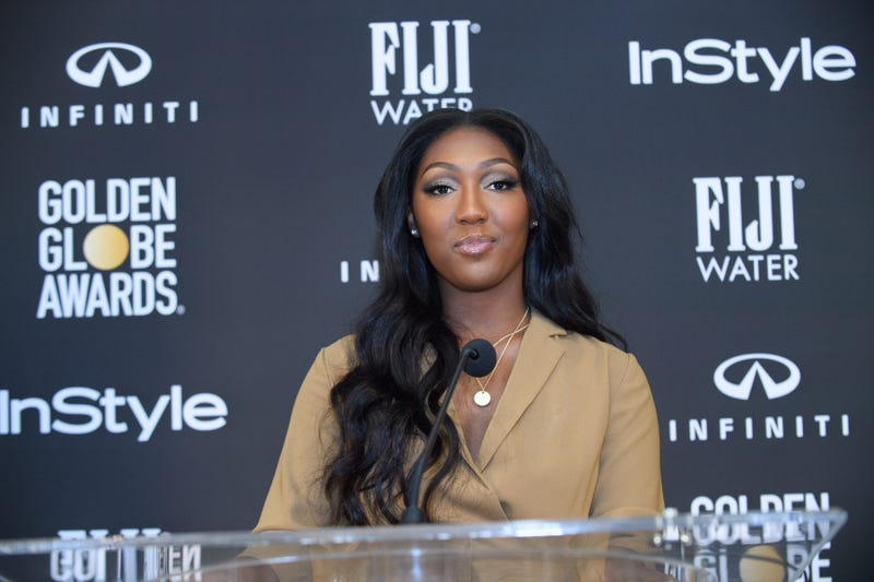 Isan Elba, Golden Globe Ambassador, at the HFPA's and InStyle's Celebration of the 2019 Golden Globe® Awards Season and the Unveiling of the Golden Globe Ambassador.