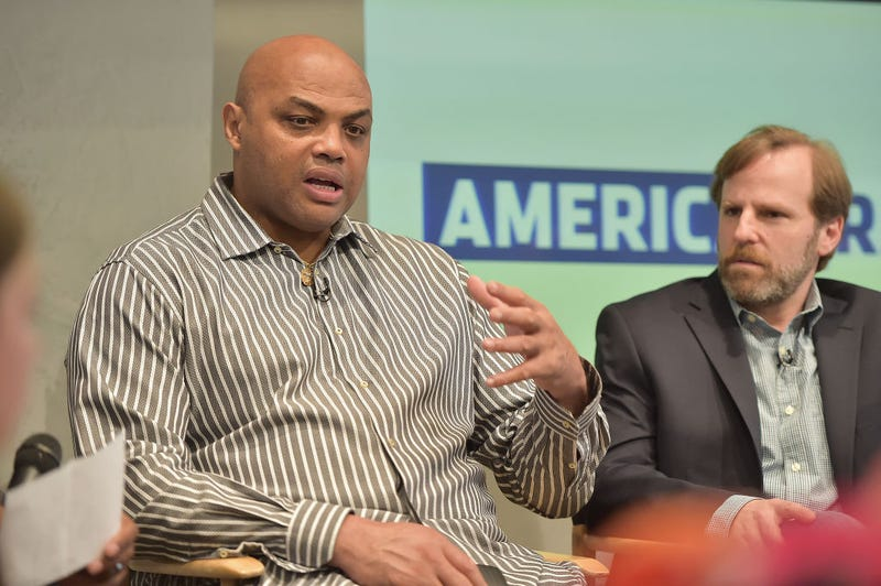 Host and Executive Producer Charles Barkley and Executive Producer Dan Partland at the American Race Press Luncheon on May 4, 2017, at the Paley Center for Media in New York City (Theo Wargo/Getty Images)