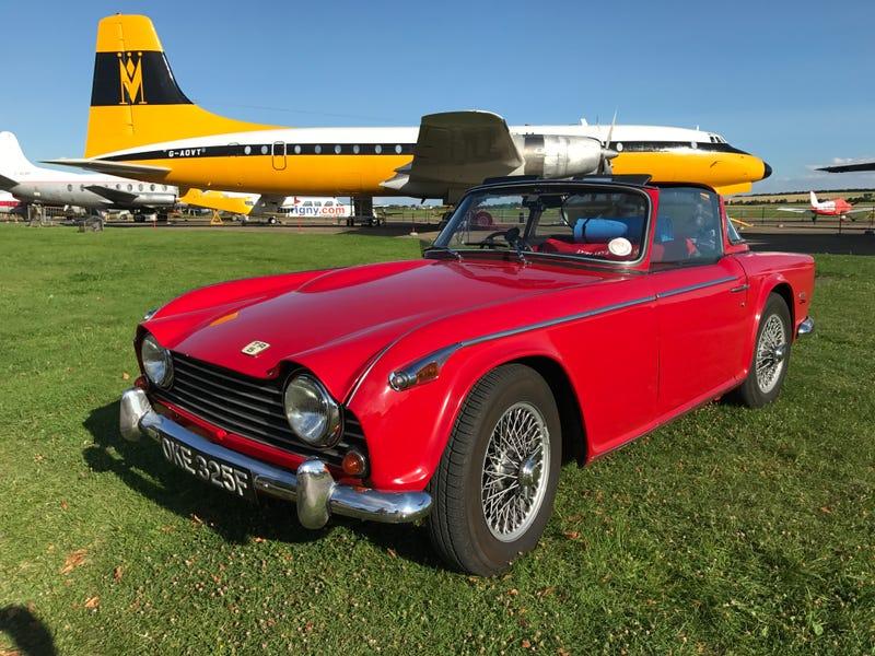 A Car Show At An Air Museum In England - Car show england