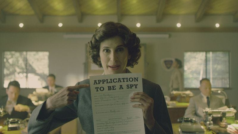 Michaela Watkins in Drunk History (Photo: Comedy Central)