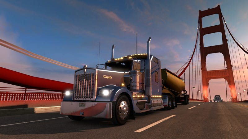 Illustration for article titled American Truck Simulator Impressions: I Nearly Crashed Into a Bus
