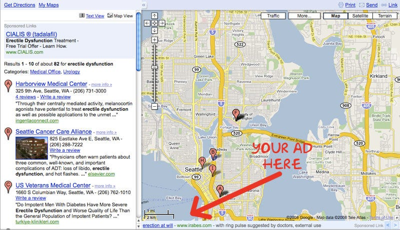 Google Maps\' New Ads Appear Even In Embarassing Searches