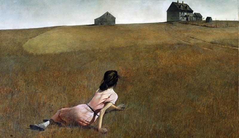 """Andrew Wyeth's """"Christina's World"""" (1948), part of the permanent collection of the Museum of Modern Art."""
