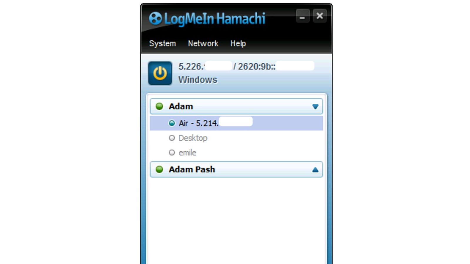 what is hamachi public network