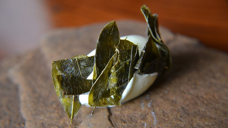 A butter made with coca leaves from the acclaimed Bolivian restaurant, Gustu (Photo: Erich Eichstetter, Gustu)