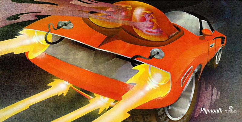 Illustration for article titled This Psychedelic Chrysler Ad From The '70s Is Awesome