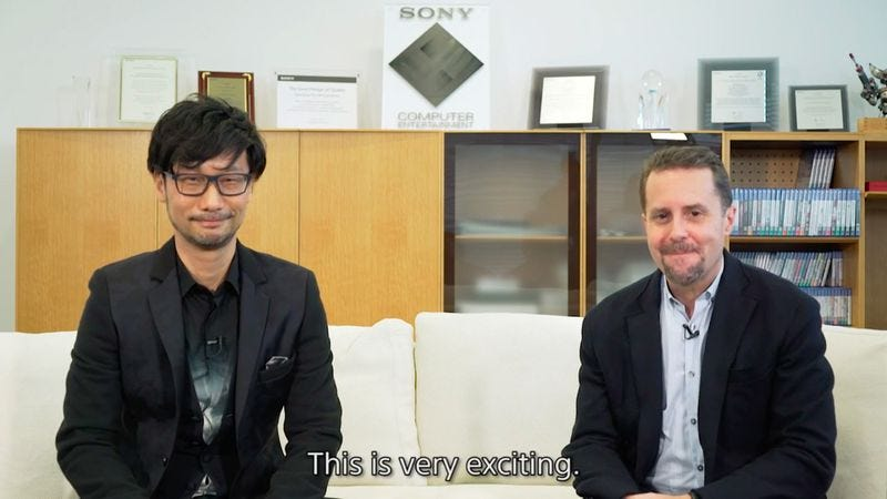 Hideo Kojima and Sony's Andrew House announce the partnership