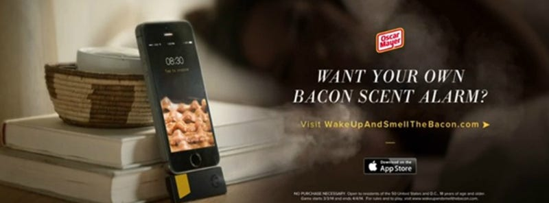 Illustration for article titled Kitchenette: Oscar Mayer to Release Bacon Smell Alarm Clock App
