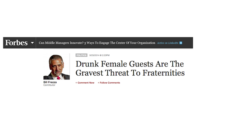 Illustration for article titled Frat Alumni President Blames 'Drunk Female Guests' For Ruining Fun