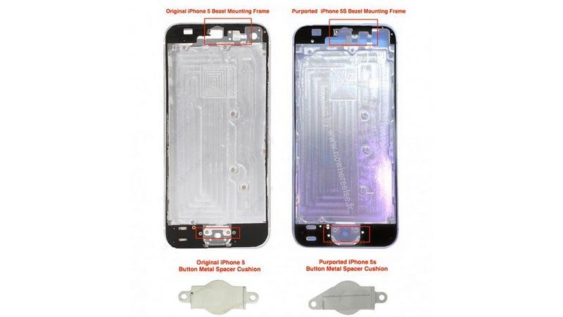 Illustration for article titled Rumored iPhone 5S Hardware Leaks Point to Fingerprint Sensor