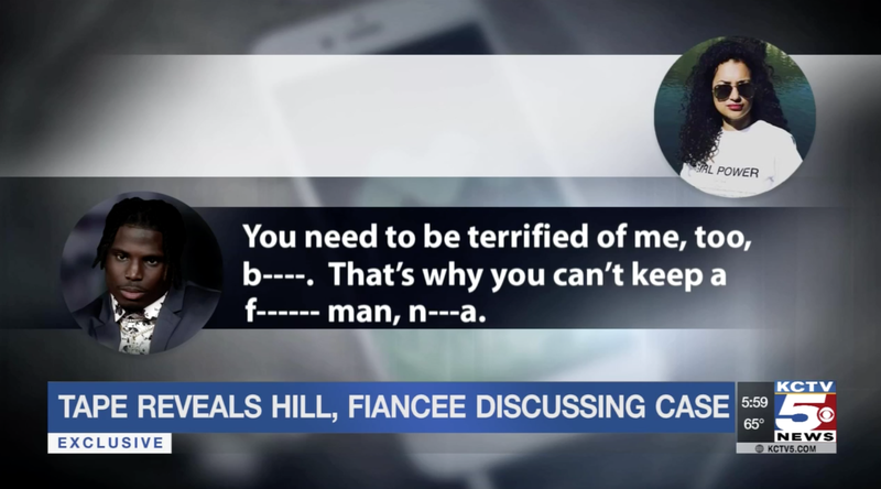 """Illustration for article titled Tyreek Hill To Fiancée, Crystal Espinal: """"You Need To Be Terrified Of Me, Too, Bitch"""""""