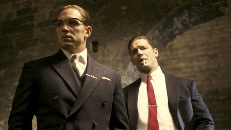 Illustration for article titled Chicago, see Tom Hardy (and Tom Hardy) play gangster twins in Legend early and for free