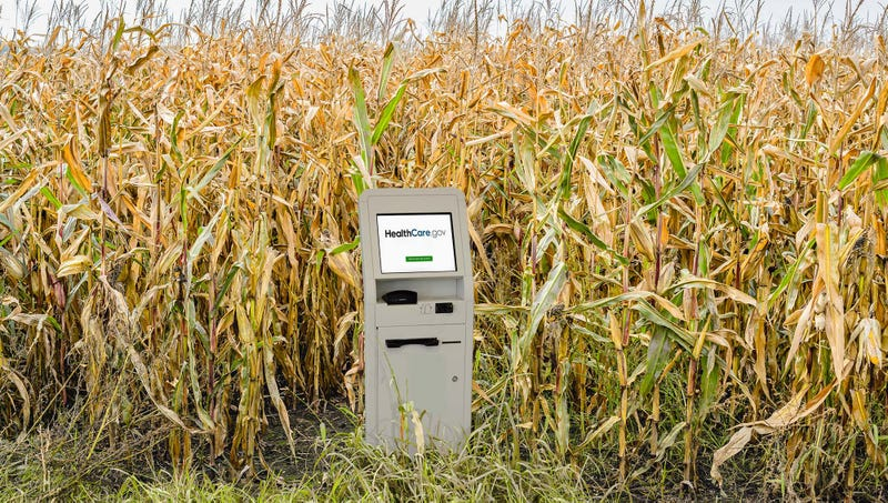 Illustration for article titled White House Announces Obamacare Exchange Now Only Accessible From Single Kiosk In Remote Iowa Cornfield