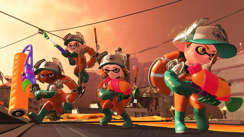 Illustration for article titled Splatoon 2's Salmon Run Is A Fun Horde Mode