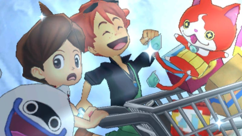 Illustration for article titled Running Around In Yo-Kai Watch 3's Sparkopolis Is The Best, Thanks To A Song