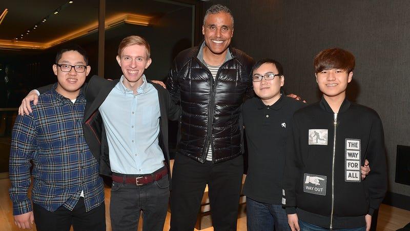 Rick Fox and four Echo Fox gamers (Charley Gallay/Getty)