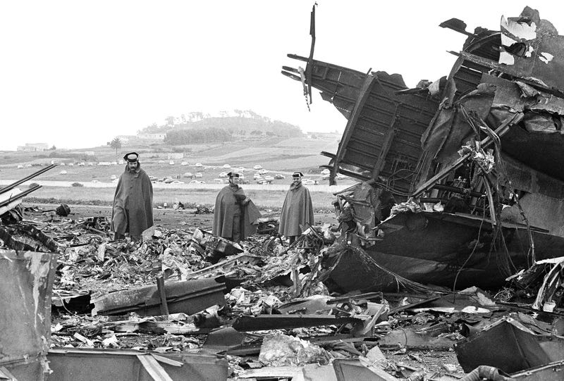 40 años del accidente más mortífero de la historia de la aviación: el día que dos Boeing 747 colisionaron en una pista de un aeropuerto de Canarias