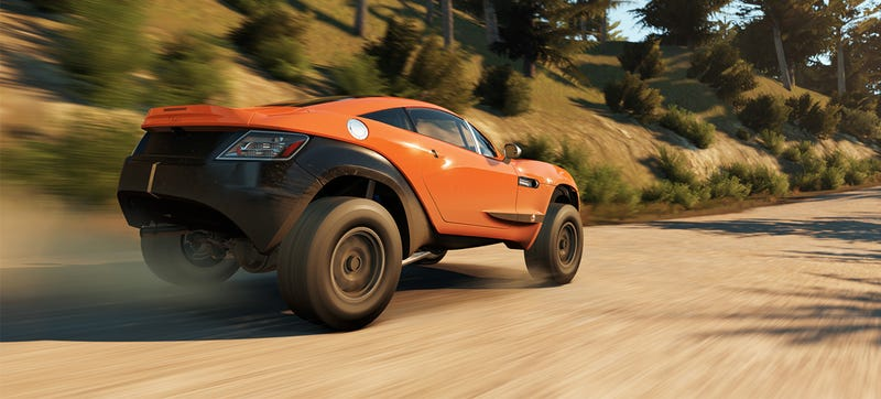 Illustration for article titled Rally Fighter Looks Spectacular In Forza Horizon 2 Video Game Debut