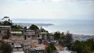 View of the Sainte Marie neighborhood in Port-au-Prince, Haiti, on Feb. 19, 2016, with the Bay of Port-au-Prince in the backgroundHECTOR RETAMAL/AFP/Getty Images