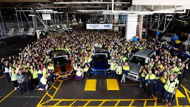 last Ford Falcon and Ford Territory built in Australia