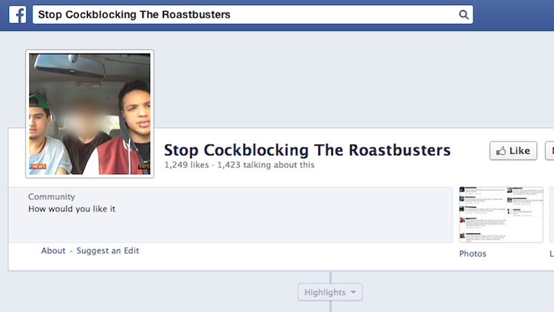 Illustration for article titled Facebook Quietly Removes Roastbusters Page, Is Still Shitty