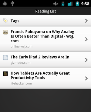 Illustration for article titled Read it Later Officially Brings Their Offline Article Reader to Android