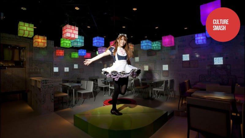 Illustration for article titled Japanese Maids Busting Nintendo Blocks in This Digital Wonderland