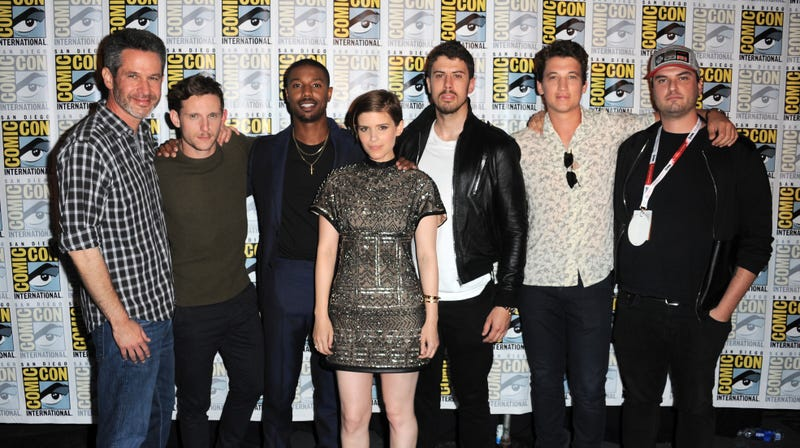 Trank, (far-right), along with producer Simon Kinberg and the cast of Fantastic Four