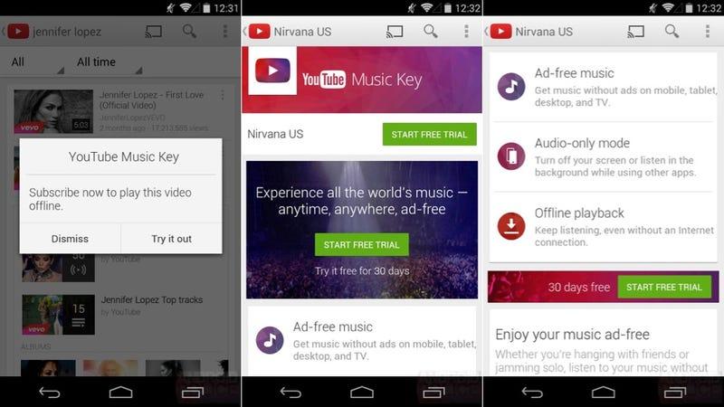 Illustration for article titled El servicio de música por suscripción de YouTube podría costar $10/mes