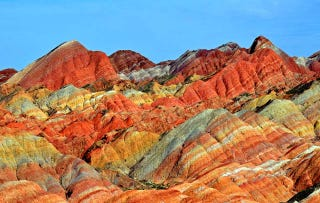 Illustration for article titled These Rainbow Mountains Are China's Secret Geological Wonder