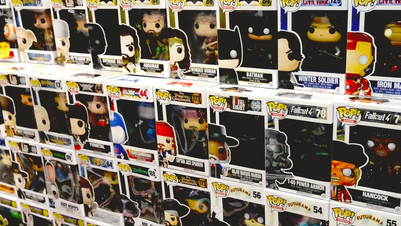 Funko POP! figures are displayed during WonderCon 2016 at the Los Angeles Convention Center.