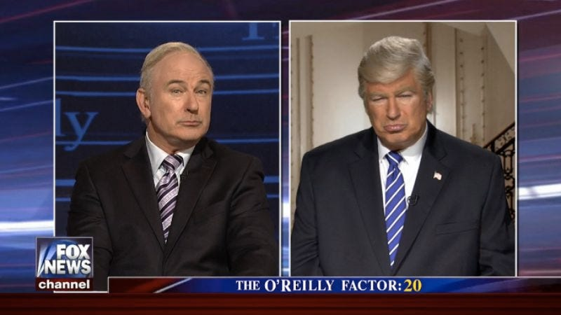 Illustration for article titled Saturday Night Live doubles your Baldwin, as Donald Trump visits Bill O'Reilly