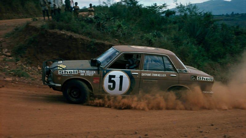 The 1972 East African Safari Rally. Photo credit Nissan
