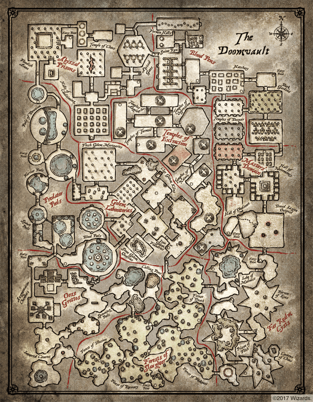'The Doomvault' Is A D&D Map For Sadistic Dungeon Masters